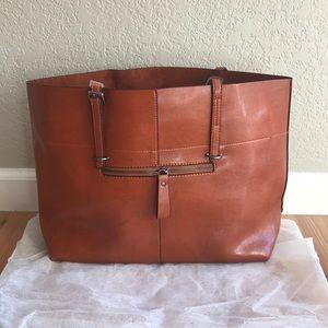 9d0acb988daf ... Weekend Edit Elle Tote Work Laptop Bag in Cognac ...